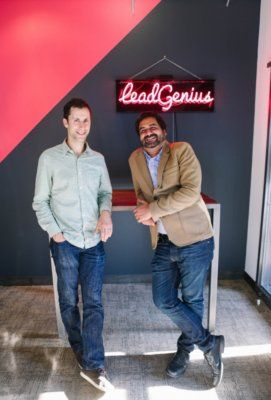 Above: LeadGenius cofounders David Rolnitzky (left), chief product officer, and Prayag Narula, CEO. Image Credit: LeadGenius