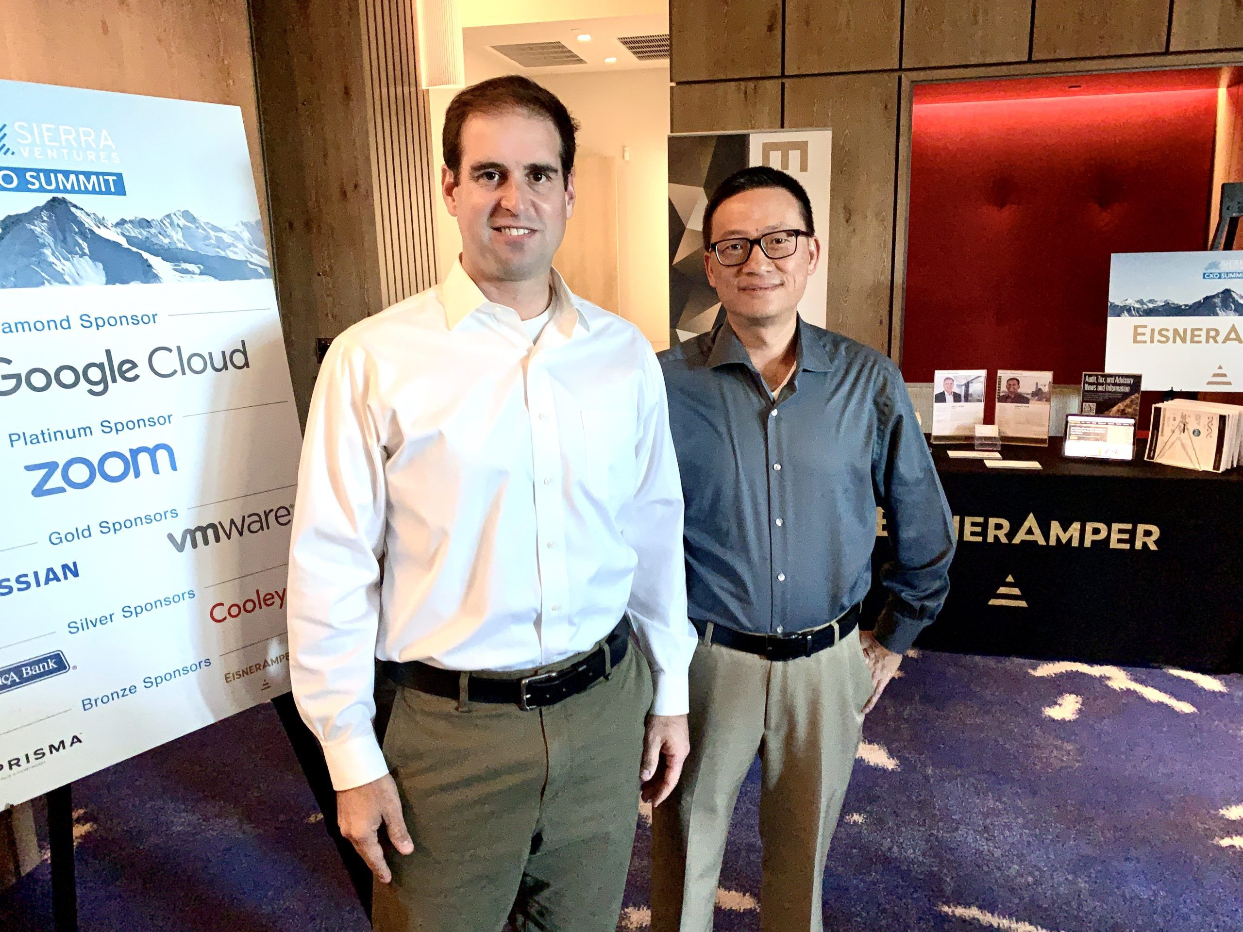 JB Straubel, Co-Founder of Tesla with Sierra Ventures Managing Director Ben Yu at the CXO Summit