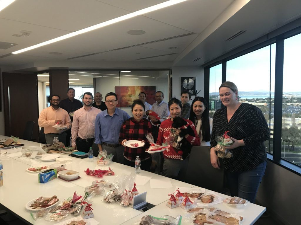 Sierra Ventures team at the Holiday Cookie Exchange