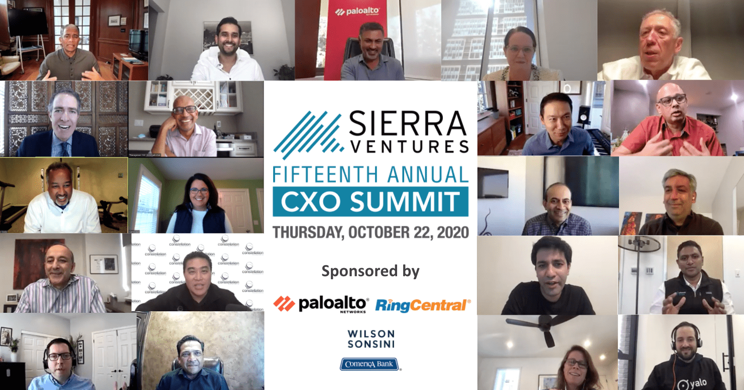 Sierra Ventures 15th Annual CXO Summit - 2020
